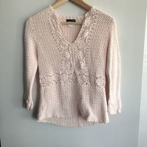 J. Crew Cut Out Sweater Blouse